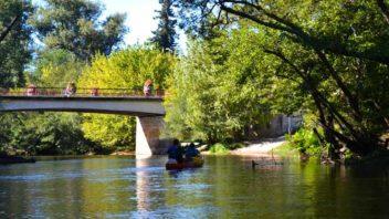 Pont du passage-salles, rando en canoe ou kayak sur la Leyre, toursime bassin arcachon
