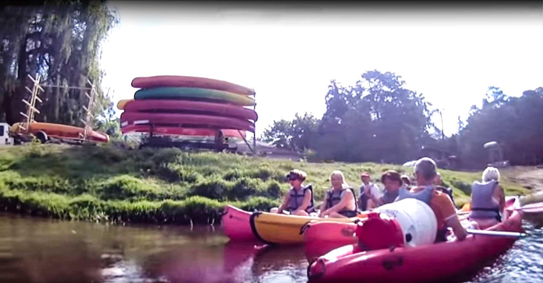 Descente de la Leyre en vidéo, location canoe kayak sur le bassin Arcachon à partir de Salles