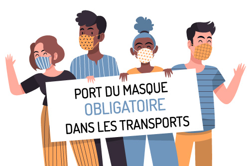 Port du masque obligatoire dans les transport (bus parcours canoe kayak)